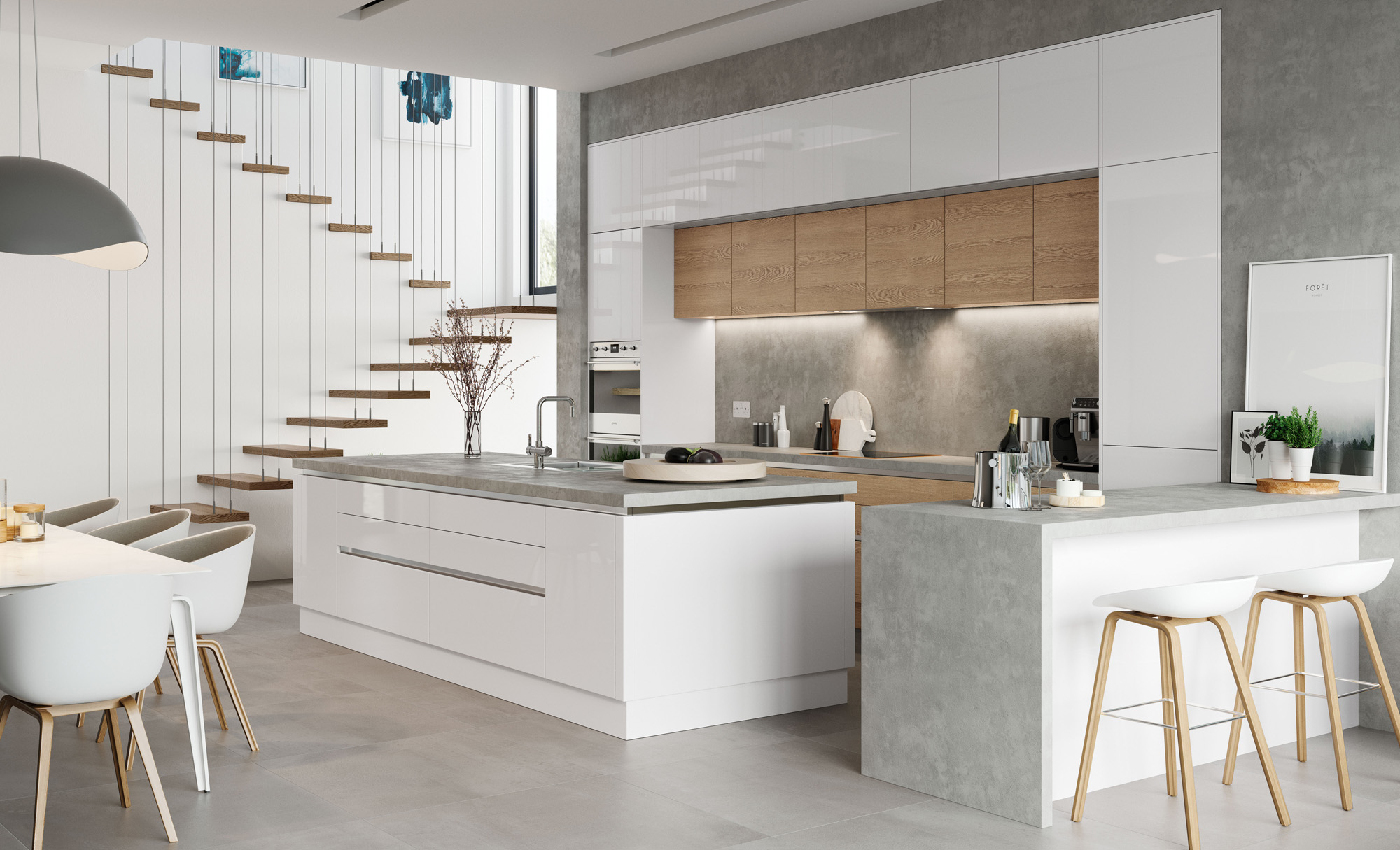 modern-contemporary-zola-white-gloss-tavola-stained-parched-oak ...